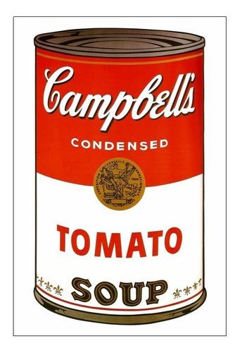 cuadro focu deco lienzo canvas 20x30 campbell's tomato