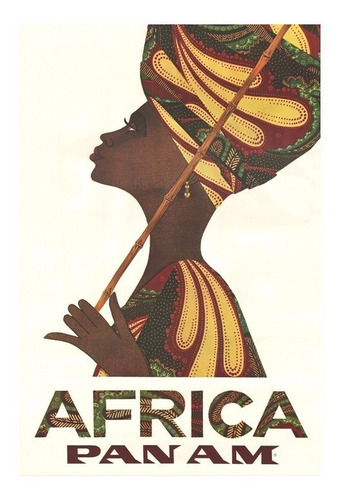 cuadro focu deco lienzo canvas 20x30 pan am africa