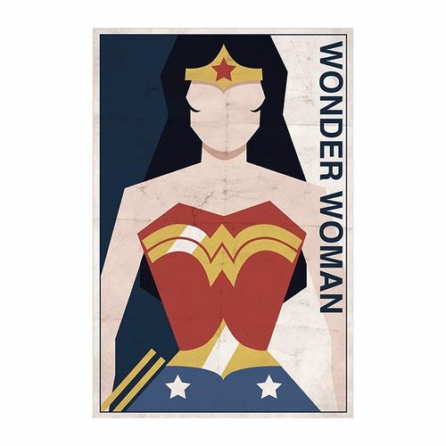 cuadro focu deco lienzo canvas 20x30 superhéroes wonderwoman