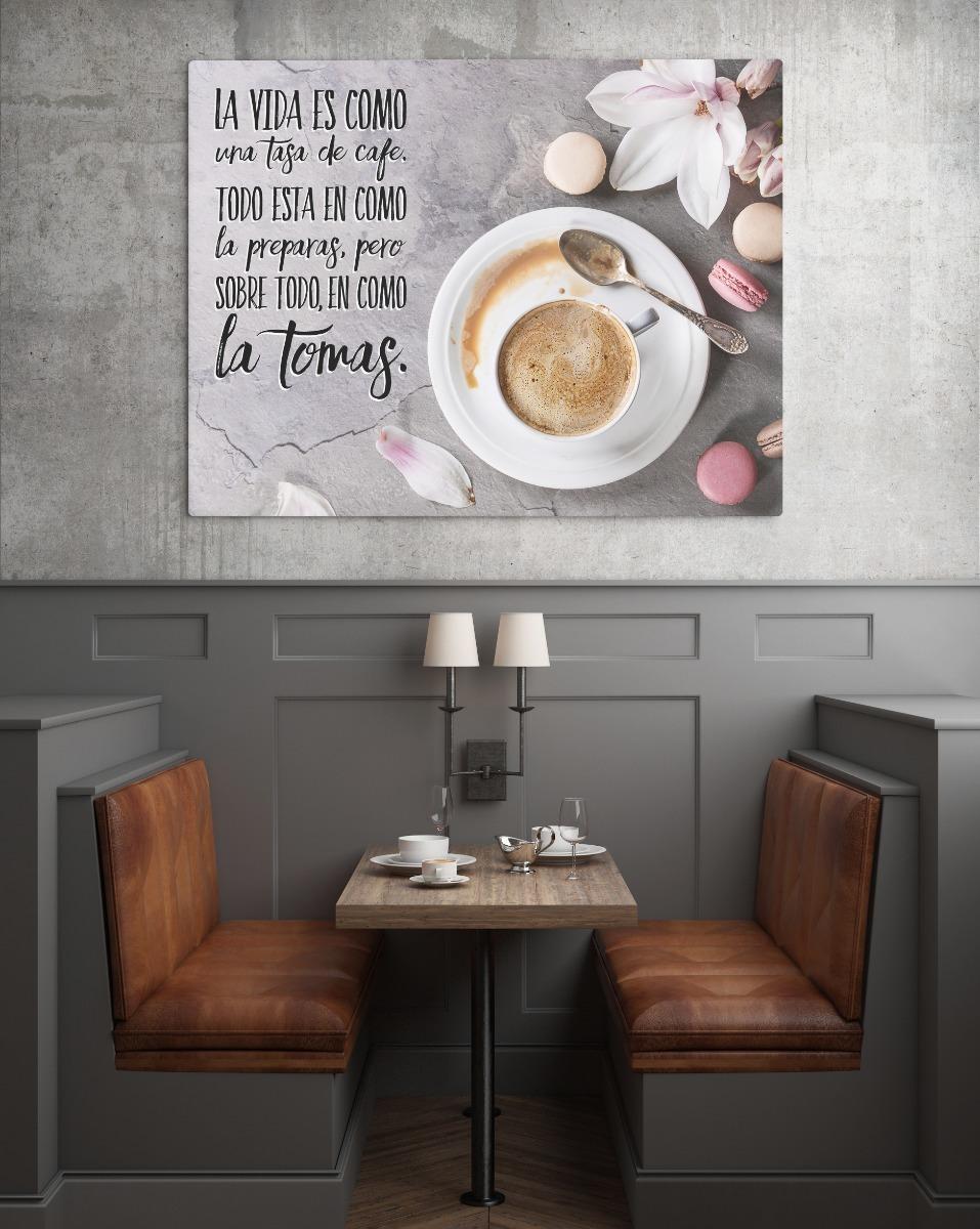 Cuadro Frases De Café Varios Diseños Tamaño 60 X 90