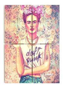 Cuadro Frida Kahlo Poliptico Arte Moderno Kalo Gigante 80x57