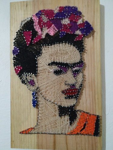 cuadro frida kahlo string art