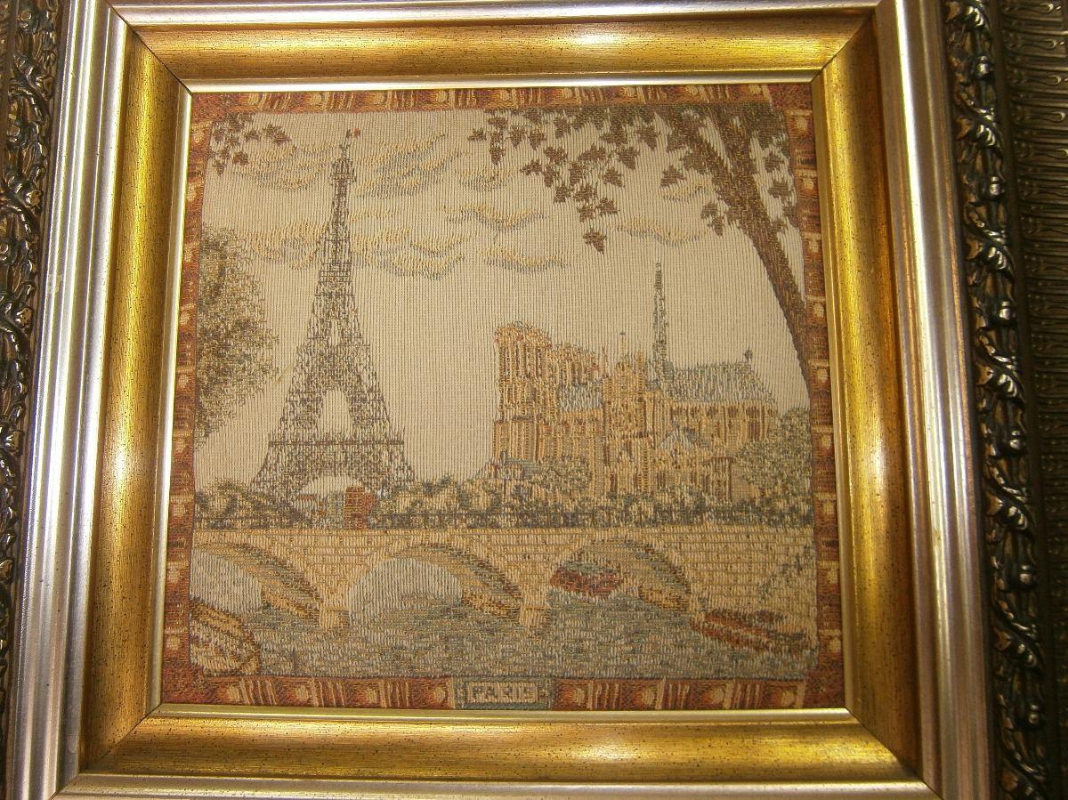Cuadro Gebelino Torre Paris , Marco En Madera Grabado, - $ 250.000 ...