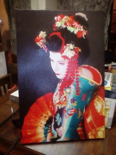 cuadro geisha japonés foto impresión
