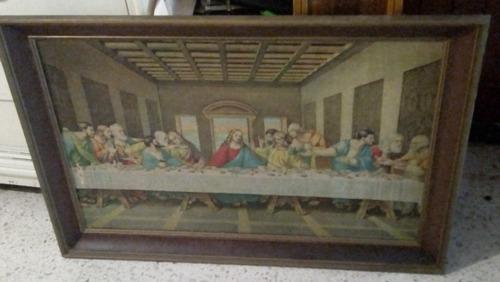 cuadro gigante vintage gran cena