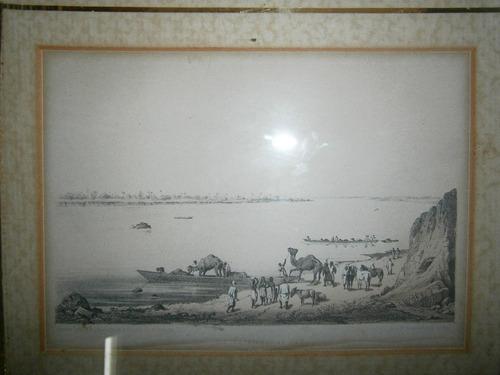 cuadro grabado camellos sobre rivera 1853