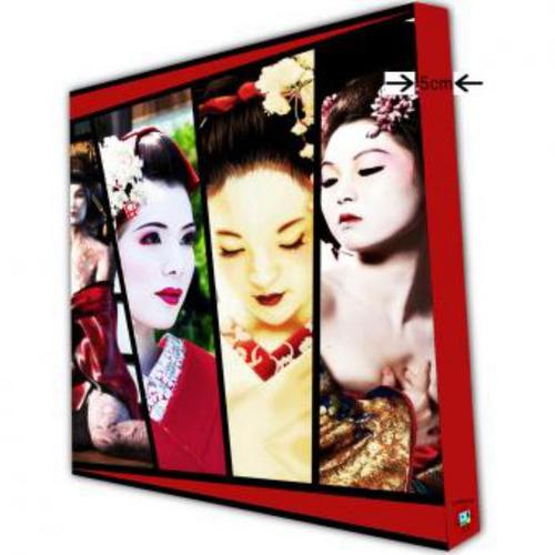 cuadro grande 120x150cm 1 pieza  geishas
