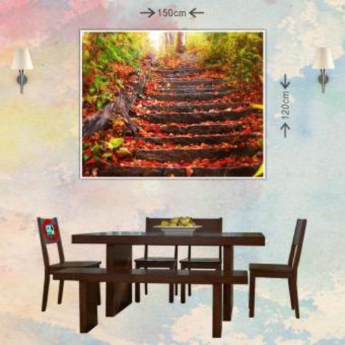 cuadro grande 150x120cm 1 pieza  otoño escaleras
