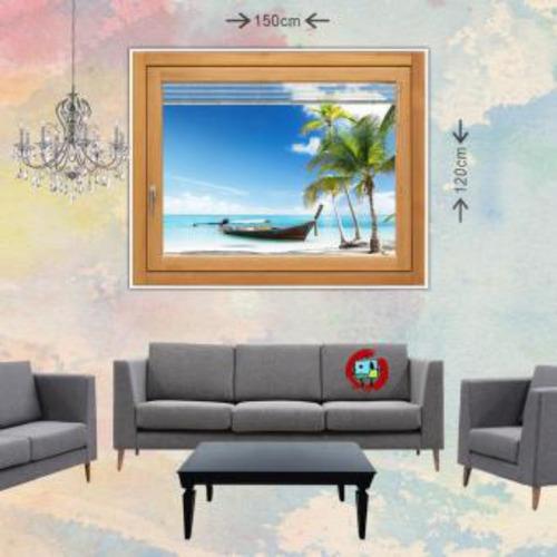 cuadro grande 150x120cm 1 pieza  playa balsa
