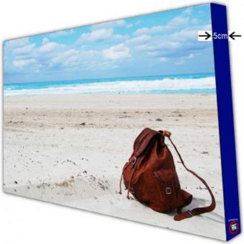 cuadro grande 150x120cm 1 pieza  pulg.playa mochila pulg.