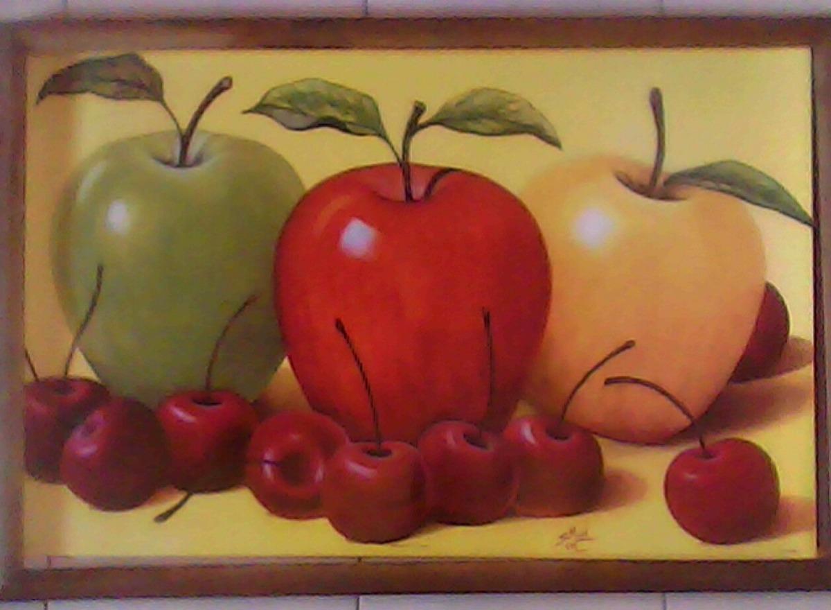 Cuadro Grande Nuevo Manzanas Tres Colores - $ 330.00 en Mercado Libre