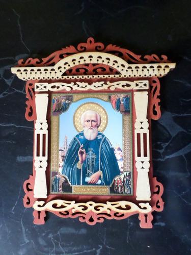 cuadro icono santos cristianos matrona cris ortodoxo templo