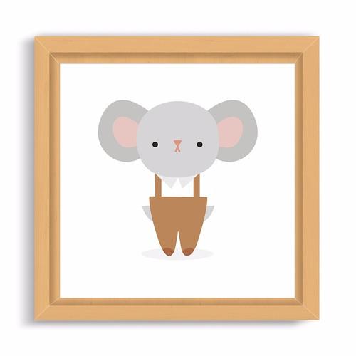 cuadro infantil. box 20x20. dibujo mr. ratón
