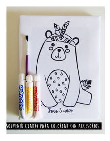Cuadro Infantil Para Pintar 16x20 Cm Con Témperas