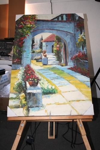 cuadro jardín arte