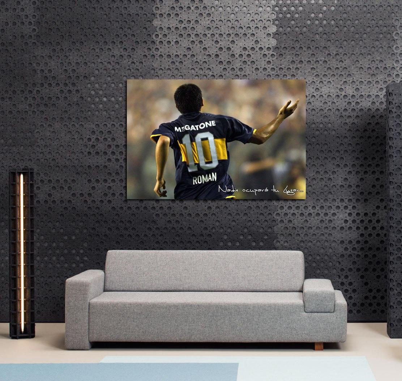 Cuadro Juan Roman Riquelme Topo Gigio Boca Juniors 20x30cm 150  # Muebles Riquelme