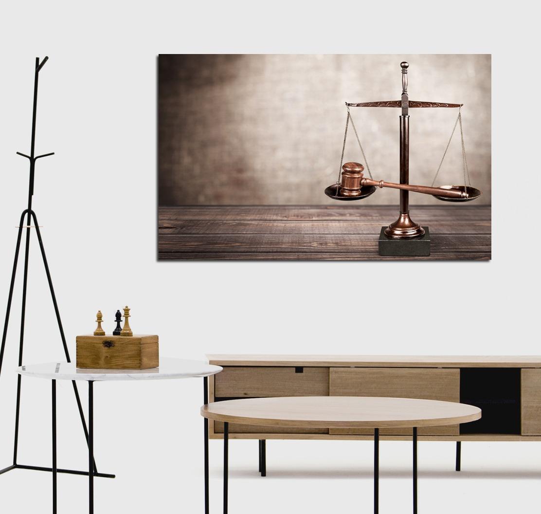 Cuadro Justicia Abogado Derecho Abogacia Ley Balance 30x45cm  # Muebles A Medida La Justicia