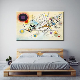 Cuadro Kandinsky Lienzo 1.20 X 80 Bastidor Composición Viii