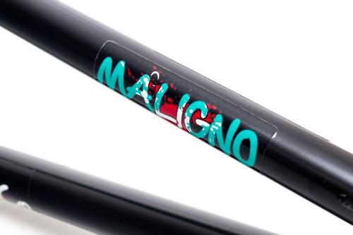 cuadro krow maligno signature bmx negro, linea profesional!