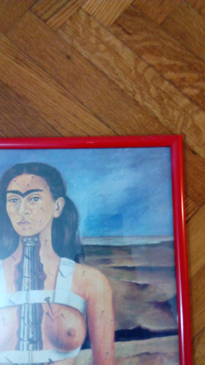 Cuadro La Columna Rota De Frida Kahlo Lamina Con Marco Rojo - $ 500 ...