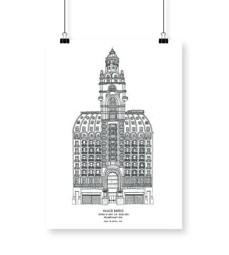 cuadro lámina deco buenos aires palacio barolo 30x40cm