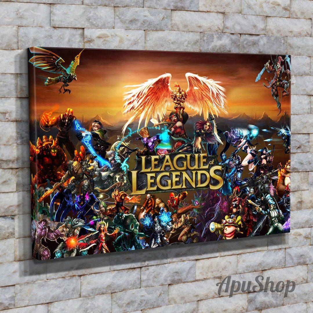 Cuadro Lienzo 45x30 League Of Legends Videojuegos Juegos Lol 599