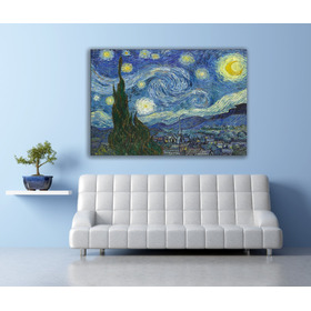 Cuadro Lienzo-canvas, La Noche Estrellada,van Gogh, 94x142