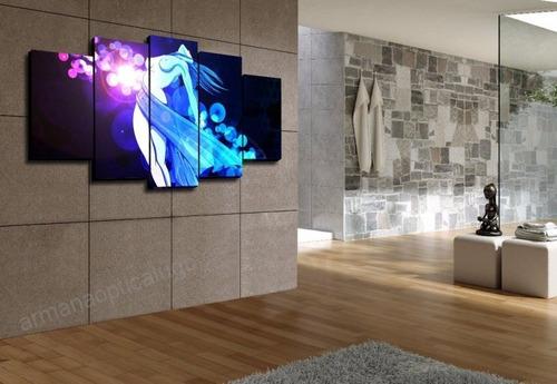 cuadro lineas moderno abstracto minimalista en tela canvas