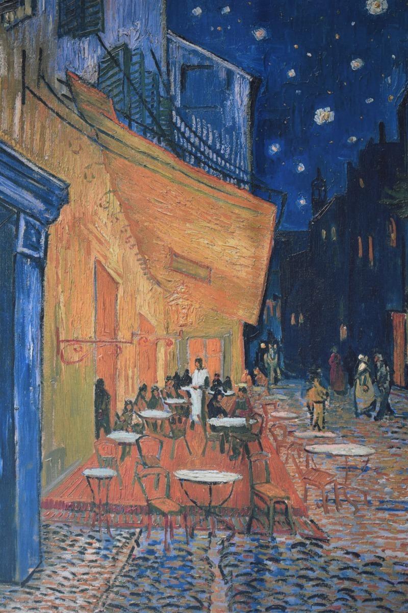 Cuadro Litografia Terraza De Cafe Por La Noche Van Gogh