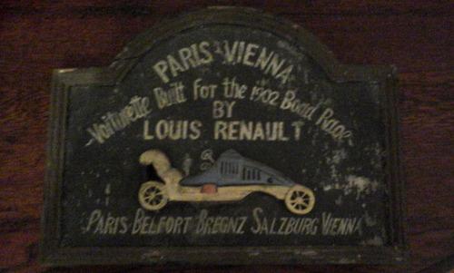 cuadro louis renault voiturette built for 1902 road race ...