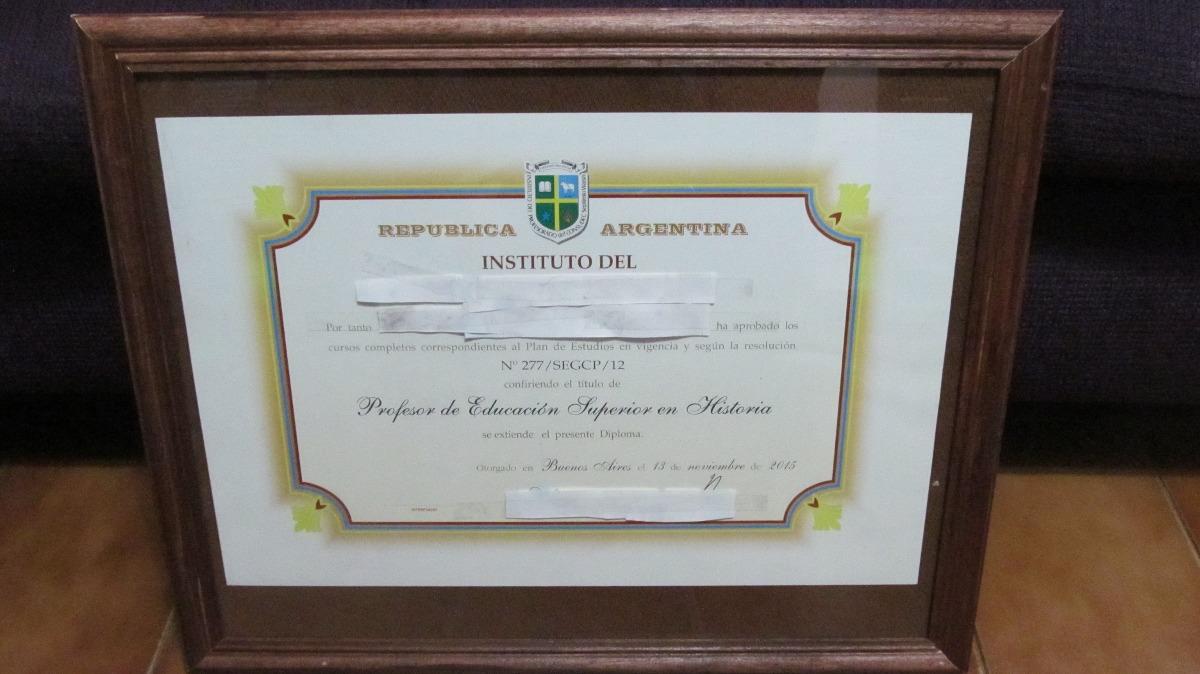 Cuadro Madera Marco Vidrio 40 X 30 Diploma O Foto 6 Cuotas - $ 199 ...
