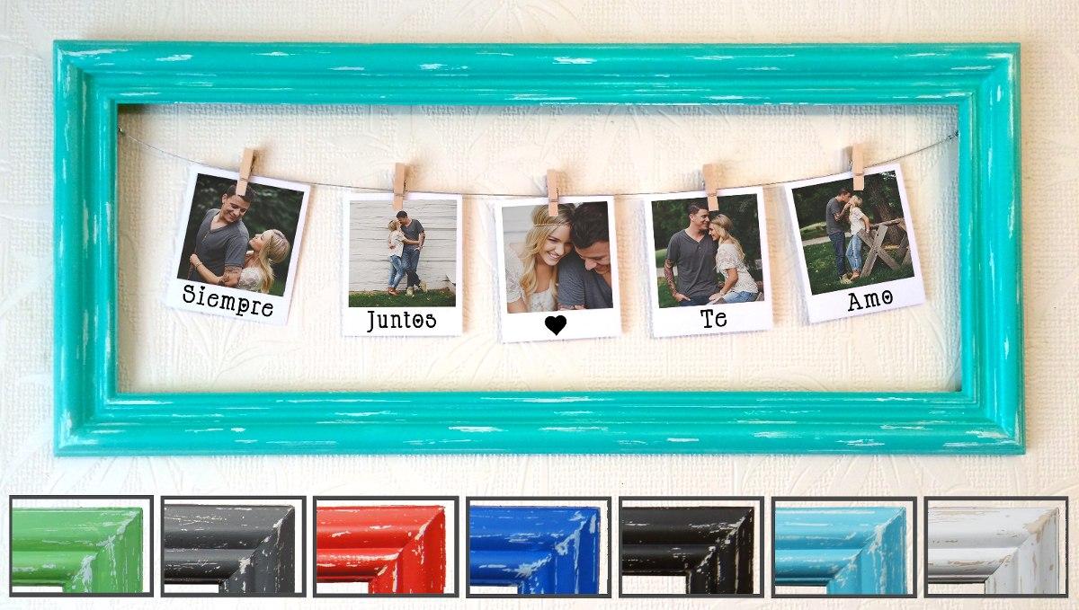 Cuadro Marco 12 Fotos Polaroid Regalo Novia Novio Vintage - $ 840,00 ...