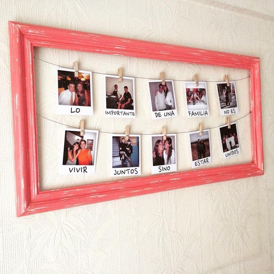 Cuadro Marco 12 Fotos Polaroid Regalo Novia Novio Vintage - $ 860,00 ...
