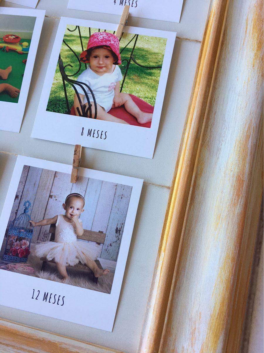 Cuadro Marco Con 12 Fotos Polaroid - Decapado Estilo Vintage - $ 790 ...