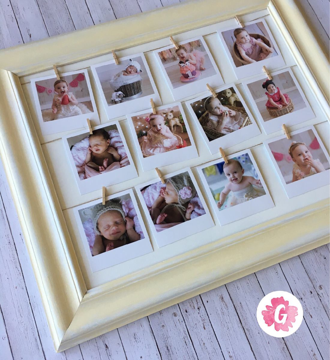 Cuadro Marco Con 12 Fotos Polaroid - Regalo Dia De La Madre - $ 820 ...