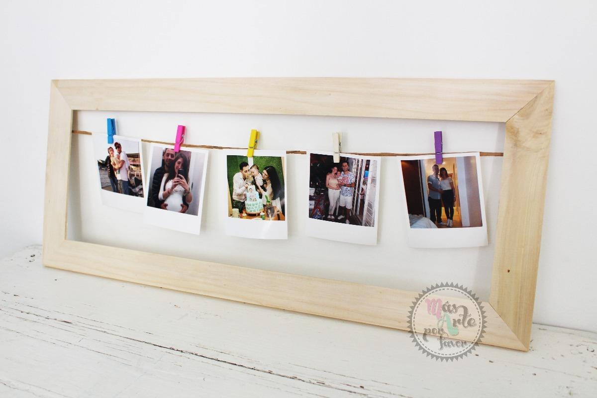 Cuadro Marco De Madera Para Fotos Polaroid 60x20 Fabricantes - $ 150 ...
