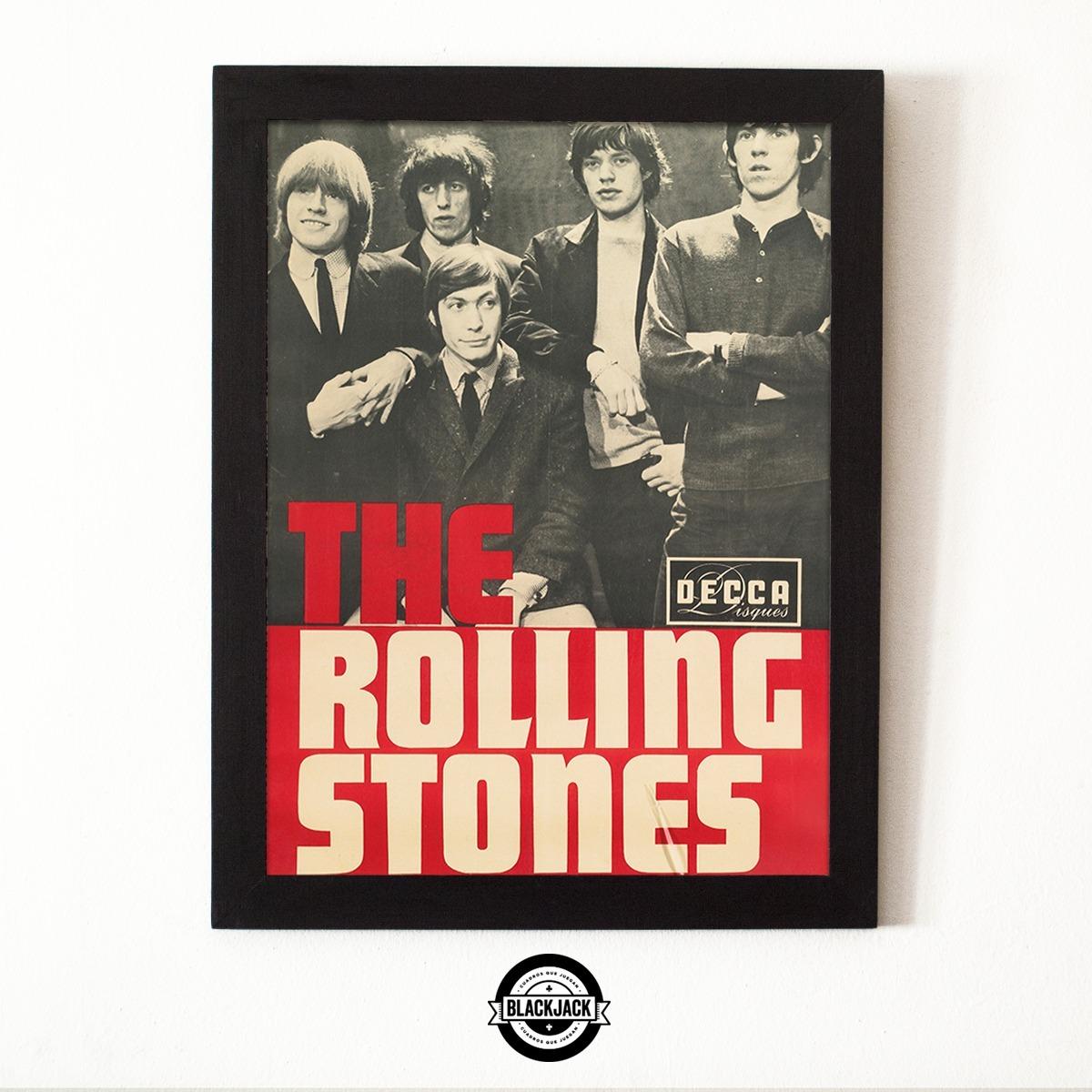 Cuadro Marco Madera 30x40 Rolling Stones Vintage Retro Rock - $ 500 ...