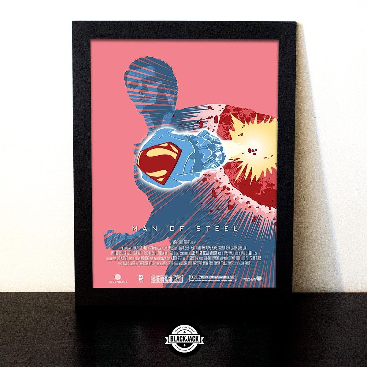Cuadro Marco Madera 30x40 Superman Peliculas Men Of Steel - $ 500,00 ...