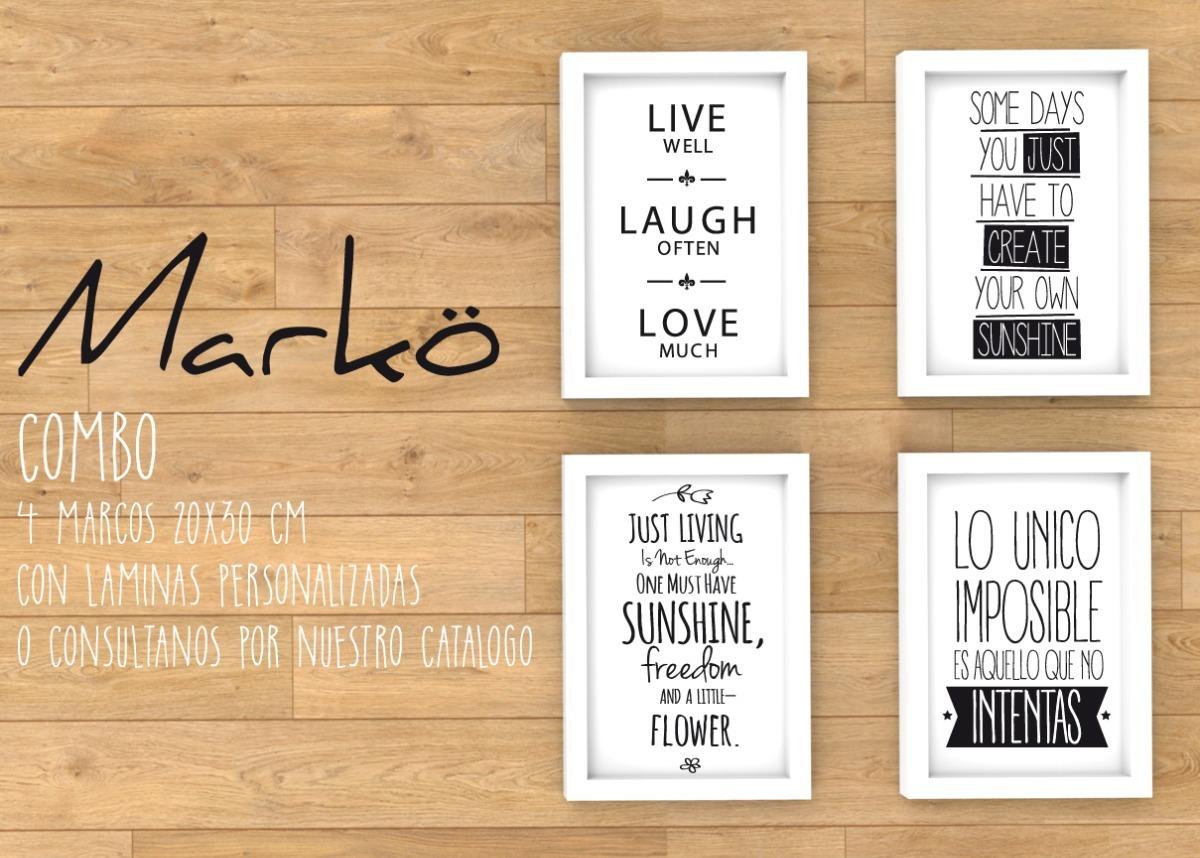 Cuadro Marcos Con Frases Personalizadas 30x20mm - $ 1.100,00 en ...