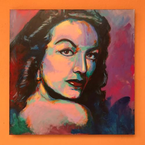 cuadro  maria bonita  / acrílico sobre tela / 100 x 100 cms.