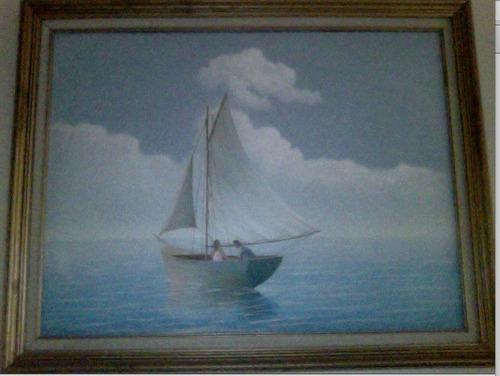 cuadro marina ramon mendez al oleo en lienzo de tela 35 x45