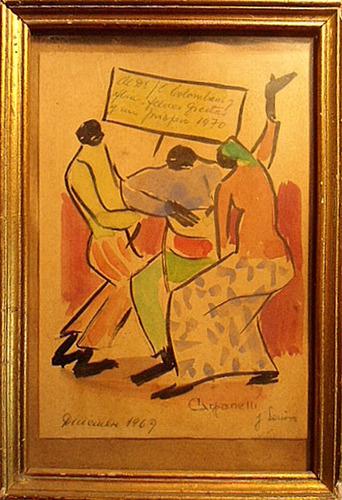 cuadro miniatura firmado carpanelli (c-164)