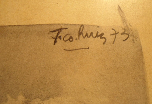 cuadro miniatura pintada a mano firmado ruiz (168)