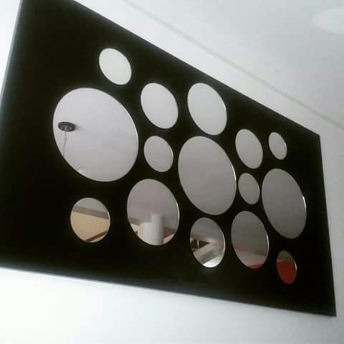 Cuadro m nimalista consola con espejos mdf melaminico bs for Espejos decorativos con formas