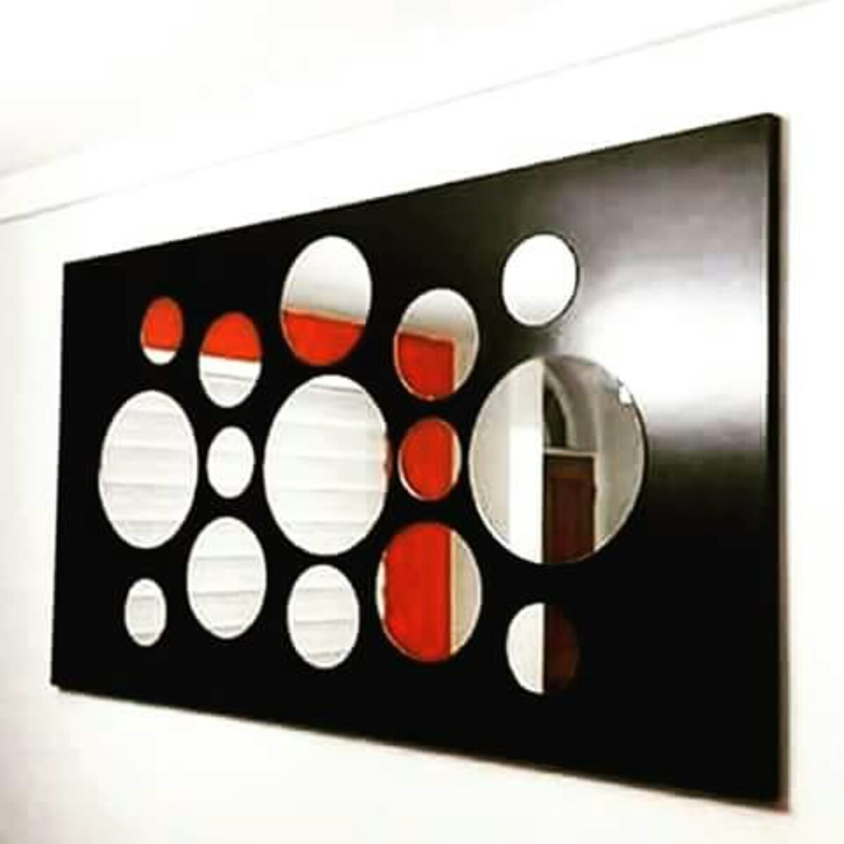 Cuadro m nimalista consola con espejos mdf melaminico bs for Marcos de espejos modernos