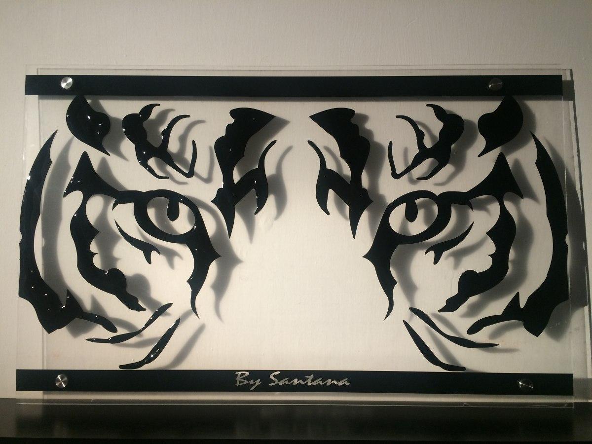 Cuadro minimalista mirada tigre arte dise o for Cuadros minimalistas