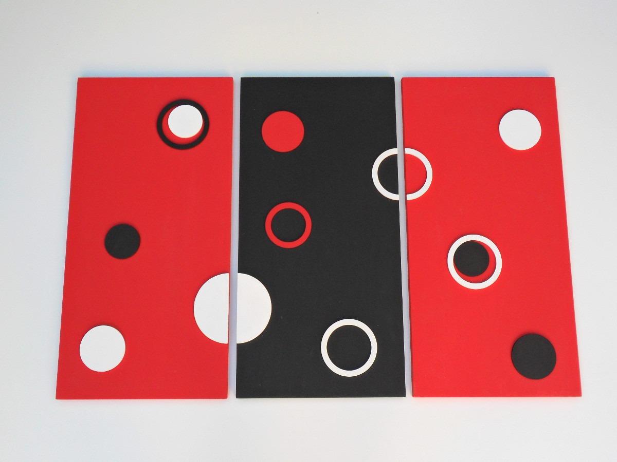 cuadro minimalista moderno con relieve triptico decoracion