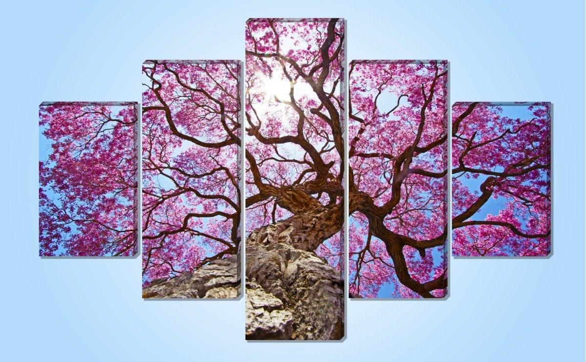 Arbol De Cerezo Japones cuadro moderno arbol de cerezo japones 5 pzas 1.14x1.85cm
