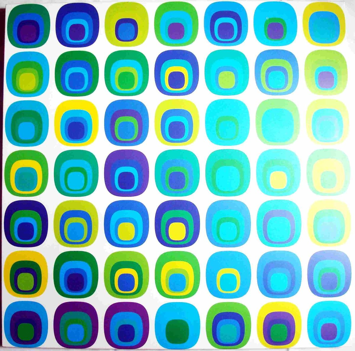 Cuadro Moderno Bima Serigrafia Sobre Vinyl Colección 2014  Bs 159