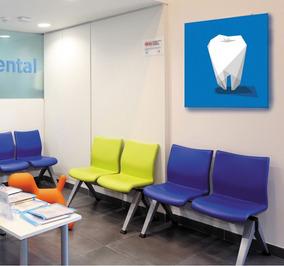 Cuadro Moderno Consultorio Dental 60x60cm Dentista Decorati